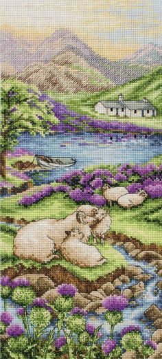 A landscape pattern from Anchor that spans far into the distance, this cross stitch kit shows off not only the abundant sheep of the Highlands, but al...