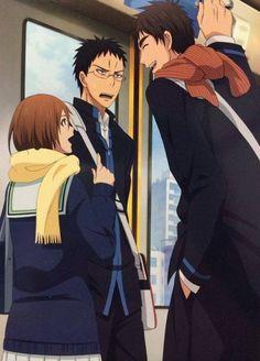 Teppei Kiyoshi, Riko Aida and Hyuuga