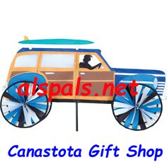 """Canastota Gift Shop ( Alspals ) - Woody  30"""" :Vehicle Spinners, $54.95 (http://stores.canastotagiftshop.net/woody-30-vehicle-spinners/)"""
