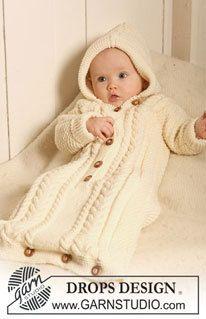 Merino wool Knitted Bunting Bag for Infants by babyknitpicks
