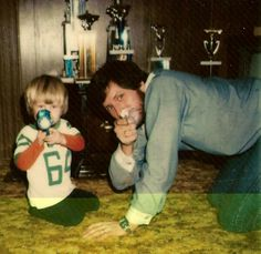 """Dale Earnhardy Jr Photo....""""Me and Dad goofin around 1978"""""""