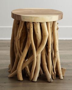 I suppose cleaning this will be a nightmare but this is so creepily beautiful. (Twisted Root Side Table)