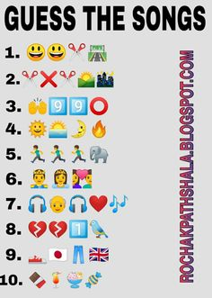 whatsapp emoticons riddles guess the songs challenge Emoji Quiz, Emoji Games, Best Love Lyrics, Cute Song Lyrics, Funny Questions, Dare Questions, Guess The Emoji Answers, Funny Brain Teasers, Best Friend Quiz