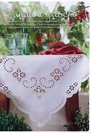 Risultati immagini per cutwork embroidery | Rose Grey Thread Hand Embroidery Cutwork Cotton Doily Placemat - Google Search