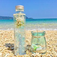 白砂ビーチのアロマキャンドル&ハーバリウム