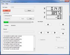 Grbl Controller is a free software which is used to send GCode to CNC Machines, this has been optimized to send GCode to a Grbl Arduino Shield