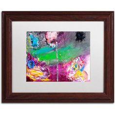 Trademark Fine Art Vertigo Canvas Art by Amanda Rea, White Matte, Wood Frame, Size: 11 x 14, Multicolor