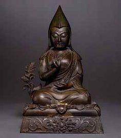 A Bronze Figure of a Panchen Lama - antique chinese Buddhism, Bronze, Statue, Antiques, Vintage, Art, Antiquities, Art Background, Antique