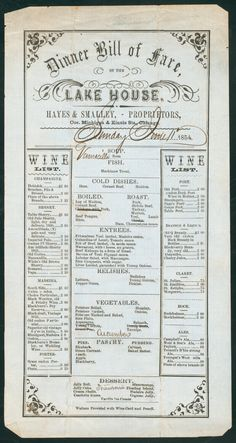 55 best 18th 19th century menus and food images 19th century rh pinterest com