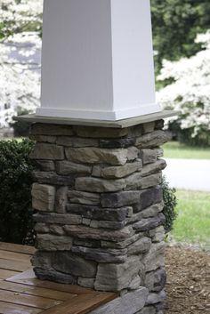Stack Stone Porch Column base