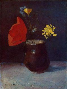 Odilon Redon - Pitcher of Flowers
