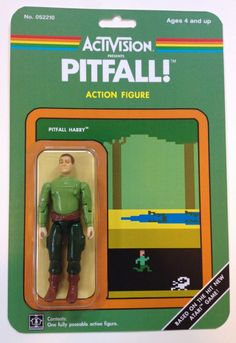 """""""Atari Action Figure"""", or when Dan Polydoris, from Chicago Toy Collector website, made a gift to himself by imagining retro-gaming custom figures inspired by Figurines D'action, Retro Videos, Retro Video Games, Retro Games, Gi Joe, Retro Toys, Vintage Toys, Atari Video Games, School Videos"""