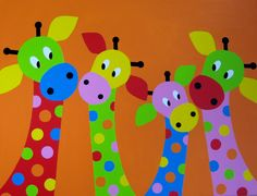 VIERTJES Adult Crafts, Crafts For Kids, Arts And Crafts, Painting For Kids, Art For Kids, Grade 1 Art, Lion Craft, Giraffe Painting, Kids English