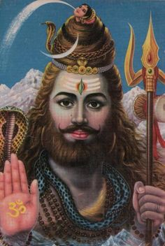 lord shiva with chandra - Google Search