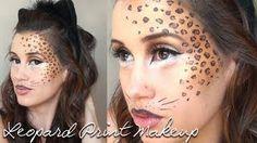 Leopard Print Halloween Makeup Tutorial, via YouTube.