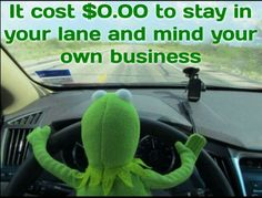 Stay in your lane and mind your business