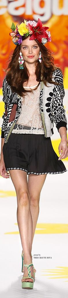 NYFW Desigual Spring 2015 RTW (Collection  Say Something Nice for Spring  designed by 46fbc4418