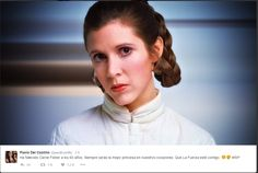 Original Star Wars trilogy actress Carrie Fisher describes her co-stars as 'melted' when they reunited for the Star Wars: Episode VII table read. Carrie Fisher, The Force Star Wars, Star Wars 7, Billie Lourd, Saga, Star Wars Icons, Simon Halls, Princesa Leia, Cinema