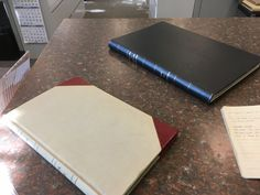 Ledgers for vital records in the villages of Barnstable, MA.