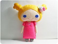 Jenny girl - doll pattern, felt doll, PDF by ana9112