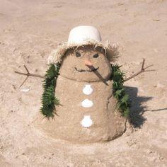 Cayman Snow Man Fun! Christmas Fun, Holiday Fun, Christmas Ornaments, Holiday Decor, Sand Snowman, Cute Little Things, Holiday Looks, Silver Spring, Beach Art