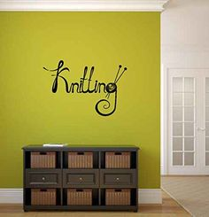 Knitting Vinyl Wall Words Decal Sticker Graphic