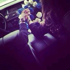 hold hands in the car