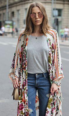 Look Básico + Kimono Boho                                                                                                                                                                                 More