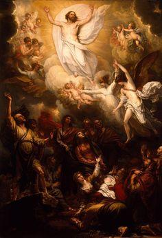 jesus-resurrection-Estación 13. Jesús asciende al cielo  De los Hechos de los Apóstoles 1, 9-11