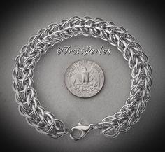 38 - Chain Maille Armband - Chainmaille Bracelet von TroisPerles auf Etsy