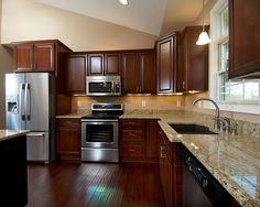 Alexandria Gourmet Kitchen with Cherry Cabinets | Flickr - Photo Sharing!