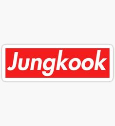 Supreme Jungkook Sticker