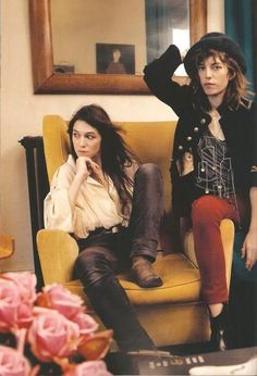 Charlotte Gainsbourg and Lou Doillon- great statement pieces to wear to work or out on date night.