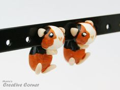 Guinea Pig TwoPart Earrings Premade Ready by MariasCreativeCorner, kr120.00