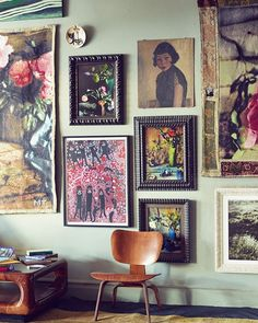 wall color + framed art