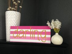 Darling wood sign by shopcampcreate on Etsy