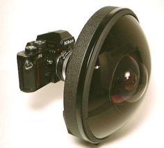 Large and rare Nikon 6mm f/2.8 lens - 220 degree viewing angle... only 161,210 USD :o)