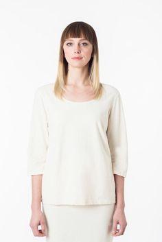 Womens Eco Fashion 3/4 sleeve scoop neck Organic Cotton Hemp Clothing – Hemp & Company
