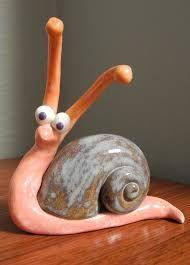 Sally the Snail Green – Ceramic Art Pottery Animals, Ceramic Animals, Clay Animals, Ceramics Projects, Polymer Clay Projects, Clay Crafts, Paper Clay, Clay Art, Ceramic Clay