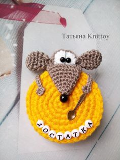 233 Crochet Pattern - Rat or Mouse with a Cheese - Amigurumi PDF file by Knittoy Etsy - Crochet Pattern - Rat or Mouse with a Cheese - Amigurumi PDF - Crochet toy pattern - crochet mouse Tapestry Crochet Patterns, Crochet Animal Patterns, Crochet Patterns Amigurumi, Crochet Dolls, Crochet Mouse, Crochet Gifts, Cute Crochet, Crochet Baby, Elephant Applique