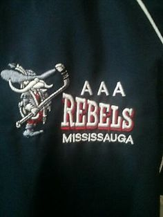 Mississauga Rebels  team issued / worn  team  jacket MTHL AAA Robby Fabri
