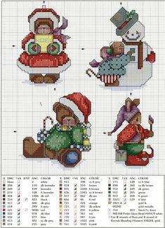 ru / Фото - LA-and even a mouse - natalytretyak Cross Stitch Christmas Ornaments, Xmas Cross Stitch, Cross Stitch Boards, Christmas Embroidery, Christmas Cross, Cross Stitching, Cross Stitch Embroidery, Merry Christmas, Christmas Minis
