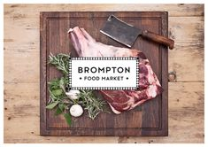 Brompton Food Market brand identity by Design Friendship
