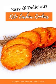 Buttery Low Carb Cashew Cookies- Amazing Cashew Cookies Recipe, Almond Cookies, Cookie Recipes, Dessert Recipes, Fall Recipes, Great Recipes, Hot Butter, Buttery Cookies, Low Carb Sweeteners