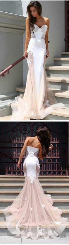 Charming Prom Dresses, Sweetheart Prom Dresses, Mermaid Prom Dresses, Blush Pink Prom Dresses,Sweep Train Prom Dresses,Long Prom Dresses,Sheath Prom Dresses,2017 Prom Dresses