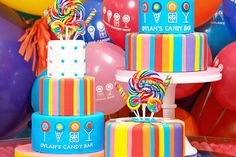 children's parties. i love the bright colors!