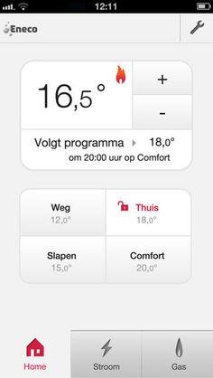 Eneco Toon thermostat iPhone app