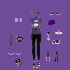 purple emo clothes for evgeryone !!!! by nasialove on Polyvore featuring Novelty, Nobody Denim, Old Navy, Rimmel, Guerlain, NARS Cosmetics, Urban Decay and Tarina Tarantino