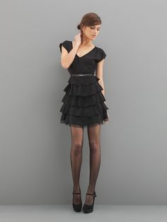 Dress with voulants by Motivi - Fall/Winter 2012/13 collection - Price 89,95€ - Shop on: http://www.motivi.com/it/shoponline/prodotto/73I27185Q0007920