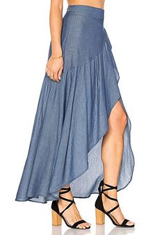 Most techniques to wear a denim mini skirts will depend on your unique style, but this simple chic wardrobe.Top below to get the denim-skirt clothes fashion women are trying this plunge.Shop for Stillwater Wrap Sum Den Skirt in Indigo at REVOLVE. Skirt Outfits, Dress Skirt, Dress Sewing Patterns, Mode Style, Blouse Designs, Denim Skirt, Designer Dresses, Fashion Dresses, Rock